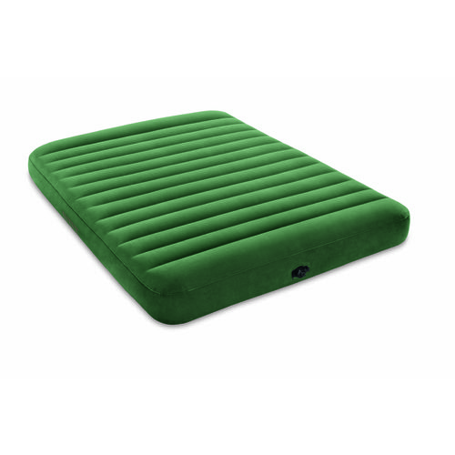 INTEX Dura-Beam Queen-Size Airbed with Battery-Operated Pump