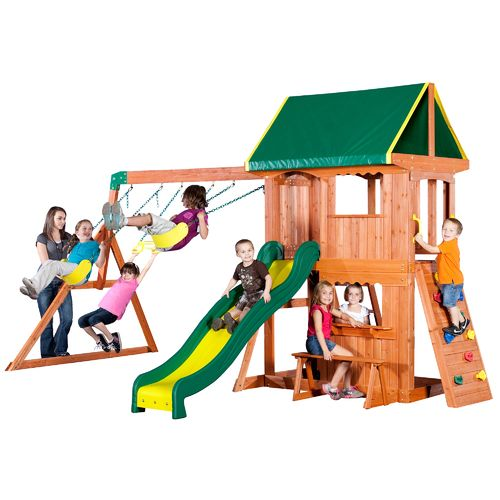 Backyard Discovery™ Somerset Wooden Swing Set   View Number 1 ...