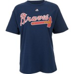 Majestic Men's Atlanta Braves Official Wordmark T-shirt
