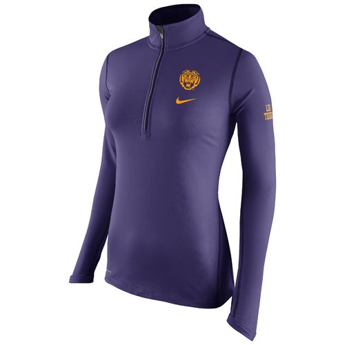 Nike Women's Louisiana State University Elements 1/2 Zip Top