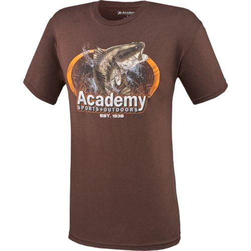 Academy sports outdoors men 39 s oval bass t shirt academy for Academy sports fish finders