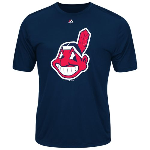 Majestic Men's Cleveland Indians Synthetic Official Logo T-shirt