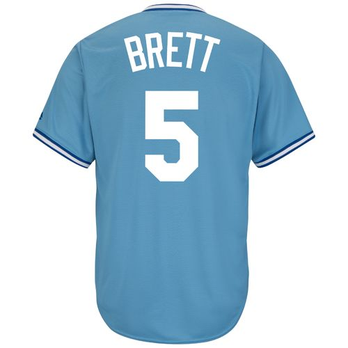 Majestic Men's Kansas City Royals George Brett #5 Cooperstown Cool Base Replica Jersey - view number 1