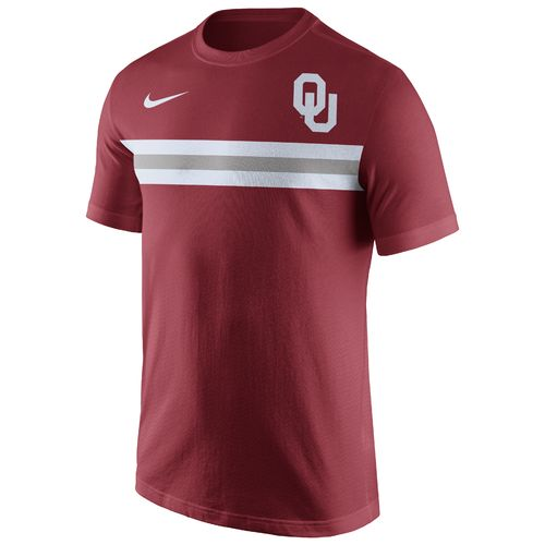 Nike Men's University of Oklahoma Cotton Team Stripe T-shirt