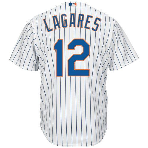 Majestic Men's New York Mets Juan Lagares #12 Cool Base Replica Jersey