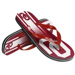 Forever Collectibles™ Kids' University of Oklahoma Wordmark Stripe Flip-Flops