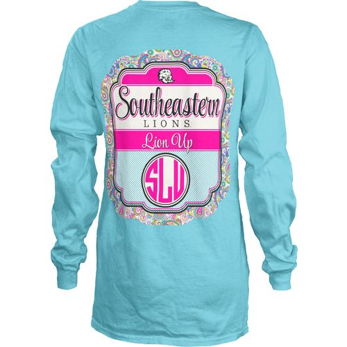 Three Squared Juniors' Southeastern Louisiana University Paisley Frame T-shirt