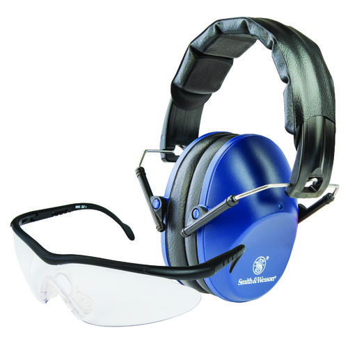 Smith & Wesson Low-Profile Range Ear Muffs and Shooting Glasses Set