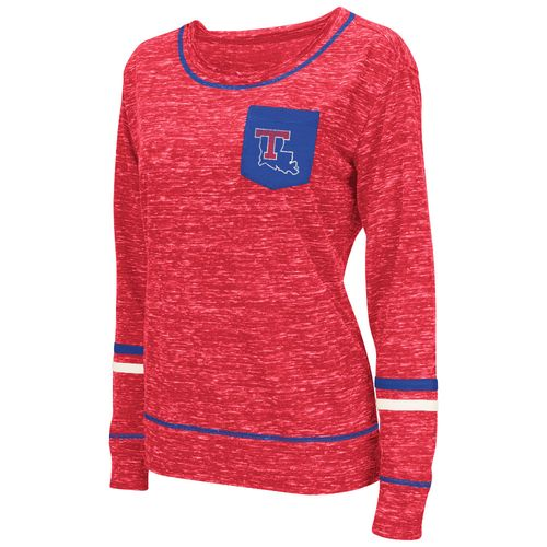 Colosseum Athletics™ Women's Louisiana Tech University Homies Long Sleeve Raw Edge Pocket T