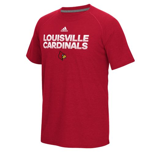 adidas™ Men's University of Louisville climalite® Ultimate Short Sleeve T-shirt - view number 1