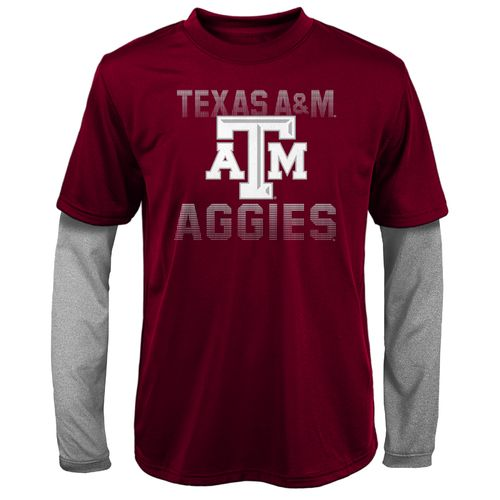 Gen2 Kids' Texas A&M University Bleachers Double Layer Long Sleeve T-shirt