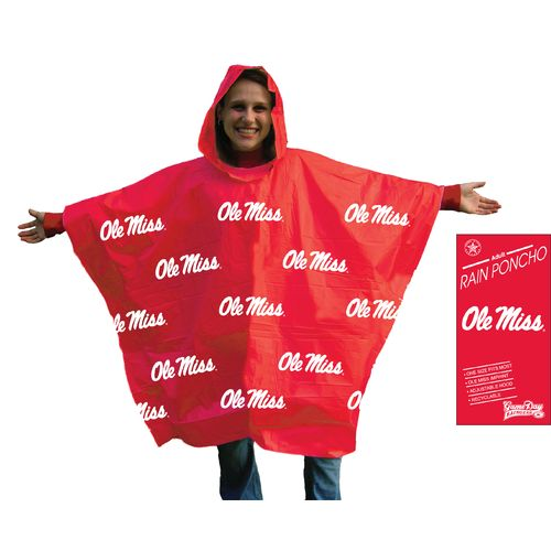 Storm Duds Adults' University of Mississippi Lightweight Stadium Rain Poncho