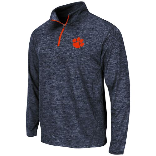 Colosseum Athletics Men's Clemson University Action Pass Long Sleeve 1/4 Zip Pullover