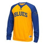 Reebok Men's St. Louis Blues Long Sleeve Raglan Crew T-shirt