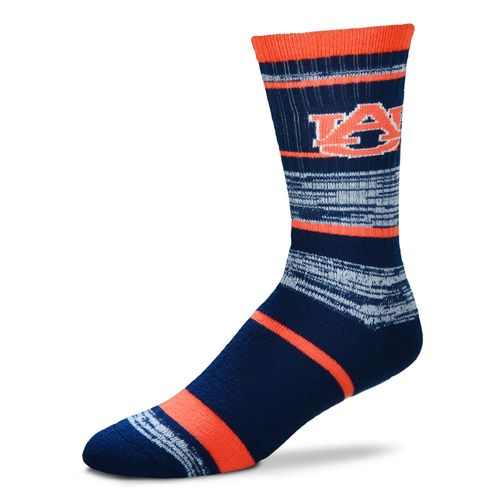 For Bare Feet Men's Auburn University Striped Crew Socks