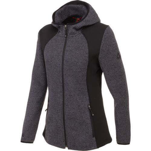 Gerry Women's Hybrid Stripe Fleece Jacket