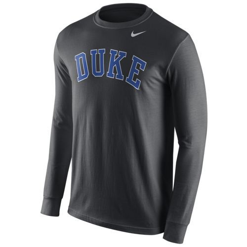 Nike™ Men's Duke University Wordmark Long Sleeve T-shirt