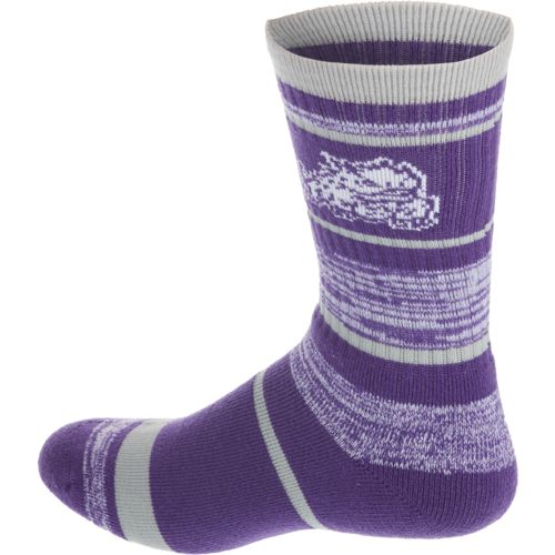 For Bare Feet Men's Texas Christian University Stripe Athletic Crew Socks - view number 2