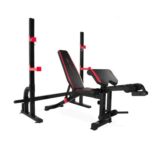 Cap strength olympic bench with preacher pad and leg developer academy Academy weight bench