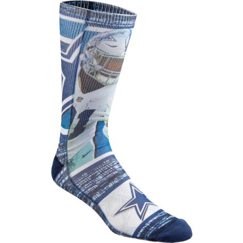 For Bare Feet Men's Dallas Cowboys Ezekiel Elliott Flashback Sublimated Socks