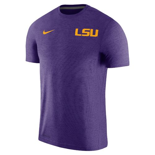 Nike Men's Louisiana State University Dry Top Coaches Short Sleeve T-shirt