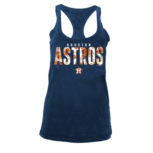 5th & Ocean Clothing Women's Houston Astros Floral Racerback Tank Top