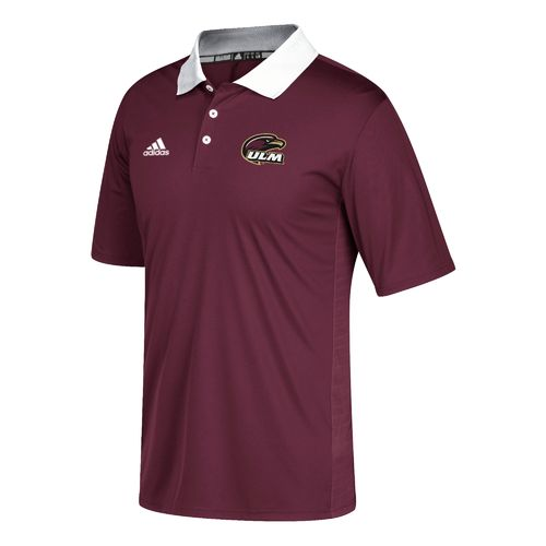 adidas Men's University of Louisiana at Monroe Sideline Coaches Polo Shirt - view number 1