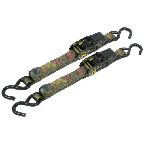 CargoLoc 8' Camo Ratchet Tie-Downs 2-Pack