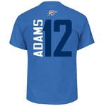Majestic Men's Oklahoma City Thunder Steven Adams 12 Vertical Name and Number T-shirt - view number 1