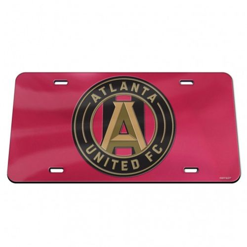 WinCraft Atlanta United FC Crystal Mirror License Plate - view number 1