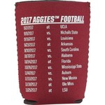 Kolder Kaddy Texas A&M University 2017 Football Schedule 12 oz Can Insulator - view number 2
