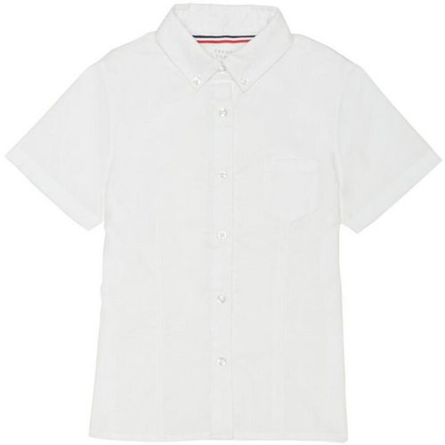 French Toast Girls' Plus Size Short Sleeve Oxford Uniform Blouse