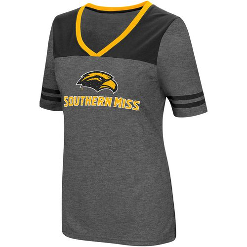 Colosseum Athletics Women's University of Southern Mississippi Twist V-neck 2.3 T-shirt