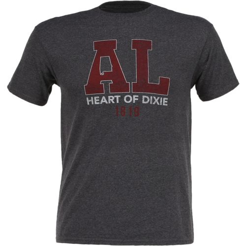 State Love Men's Alabama Heart of Dixie Short Sleeve T-shirt - view number 1