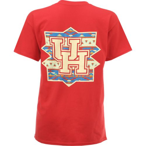 New World Graphics Women's University of Houston Logo Aztec T-shirt
