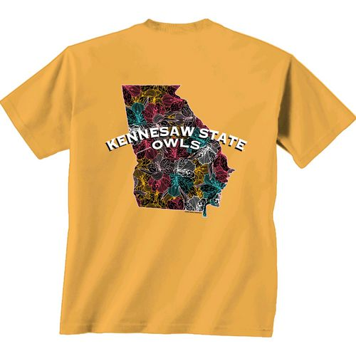 New World Graphics Women's Kennesaw State University Comfort Color Puff Arch T-shirt