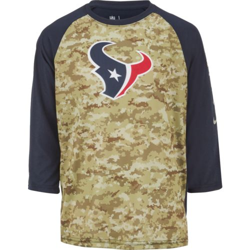 Nike Boys' Houston Texans Salute to Service Legend Raglan T-shirt