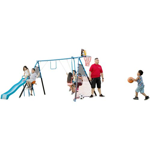 Fitness Reality Kids 7-Station Sports Series Metal Swing Set