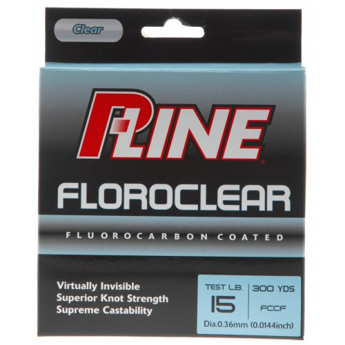 P line floroclear 15 lb 300 yards fluorocarbon fishing for Pline fishing line