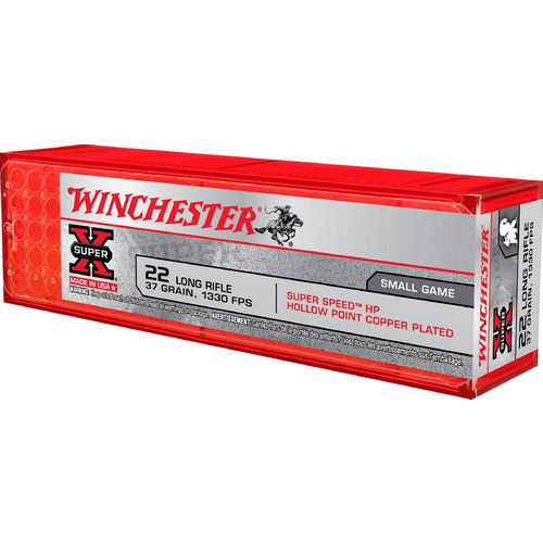Winchester Super-X® Lead Hollow-Point .22 Long Rifle 37-Grain Rifle/Handgun Ammunition