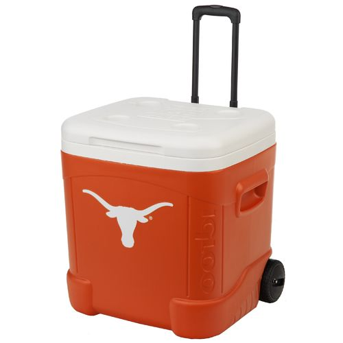 Igloo University of Texas Ice Cube™ 60 qt. Roller Cooler