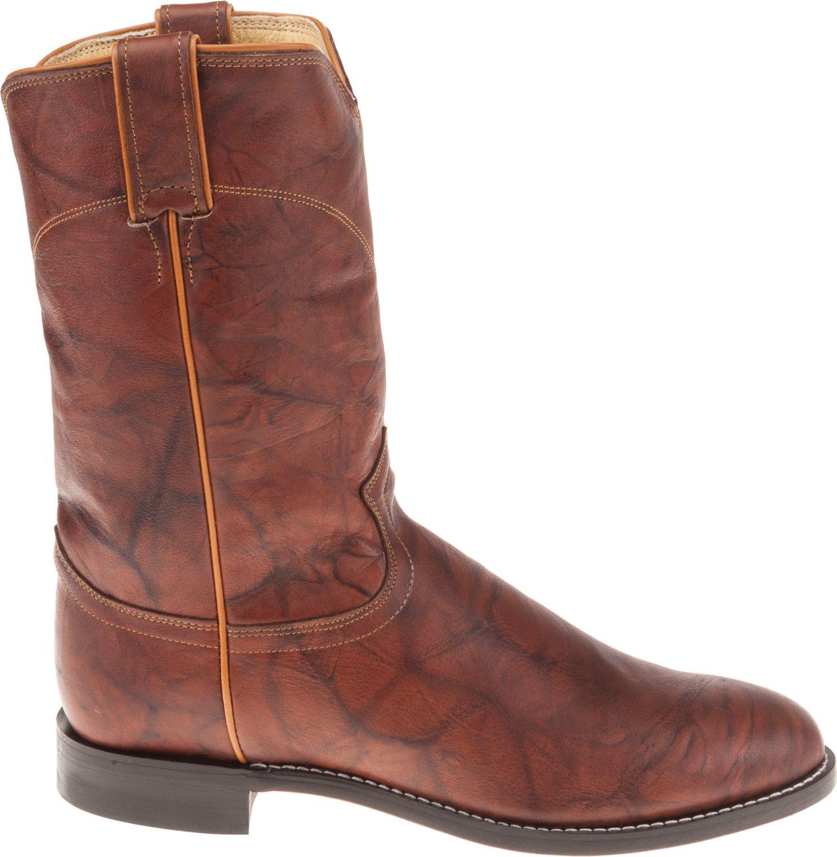 Justin Men's Ropers Marbled Deerlite Western Boots
