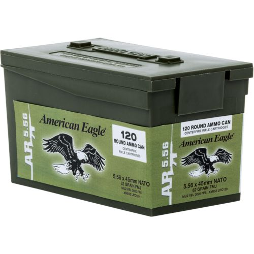 Federal® American Eagle XM 855 5.56 NATO 62-Grain Centerfire Rifle Ammunition