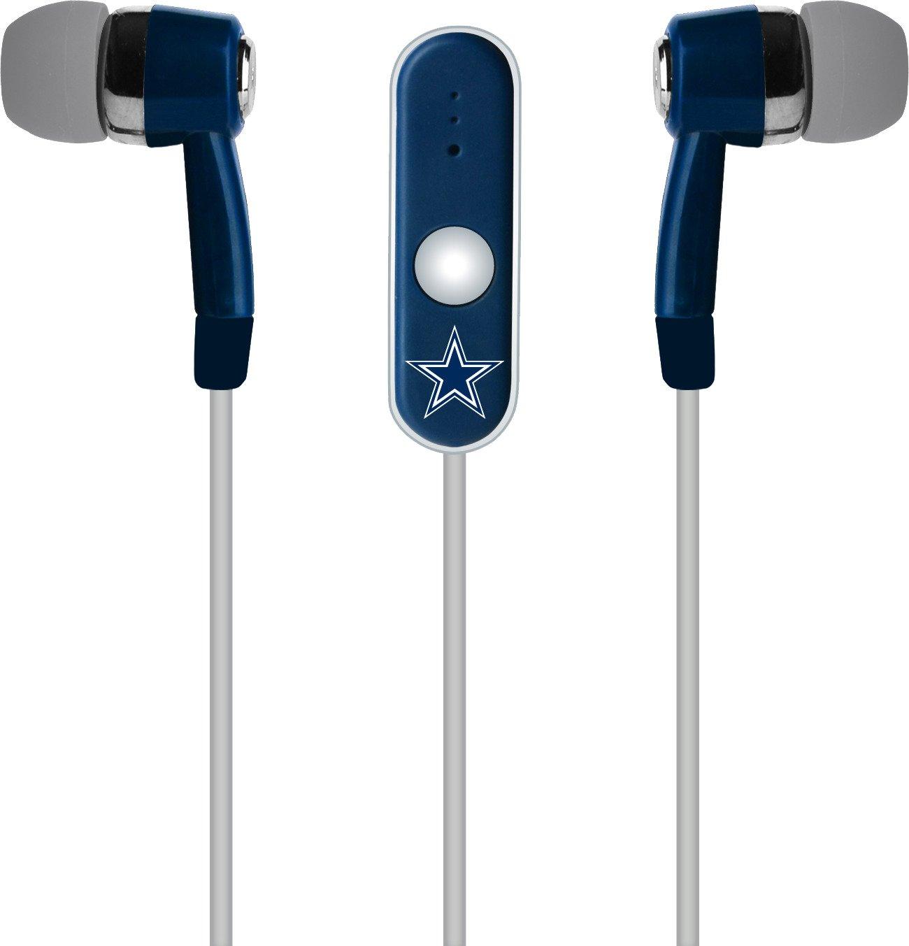 Mizco Dallas Cowboys Stereo Hands-Free Earbuds