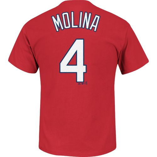 Display product reviews for Majestic Men's St. Louis Cardinals Yadier Molina #4 T-shirt