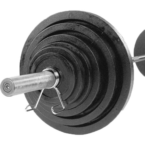 Body-Solid 300 lb. Olympic Plate Set with Chrome Bar
