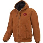 Carhartt Men's Texas A&M University Quilted Flannel Lined Sandstone Active Jacket