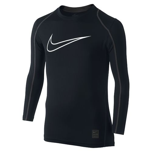 Nike Boys' Hypercool High Brand Read Fitted Long Sleeve Top - view number 1