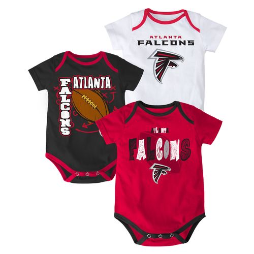 NFL Infant Boys' Atlanta Falcons 3 Point Spread Bodysuits 3-Pack