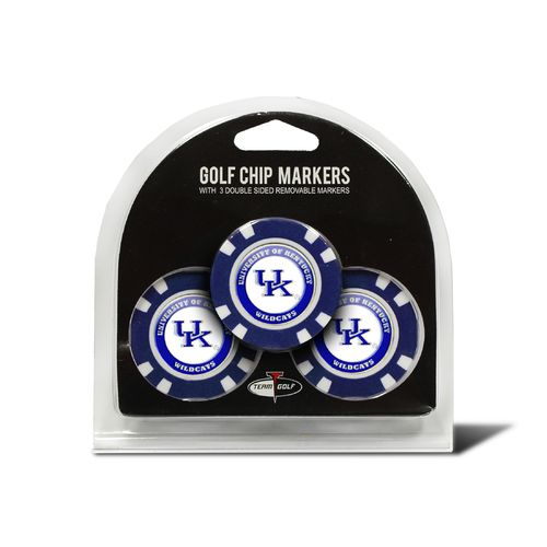 Team Golf University of Kentucky Poker Chip Markers 3-Pack